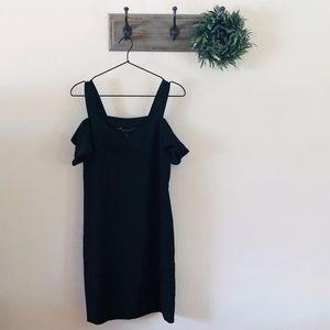 Banana Republic Black Cold Shoulder Dress 2